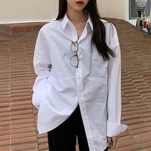 アシメオーバーホワイトシャツ RD8227