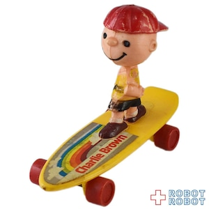ピーナッツ チャーリー・ブラウン  ミニ スケートボード 黄ボード