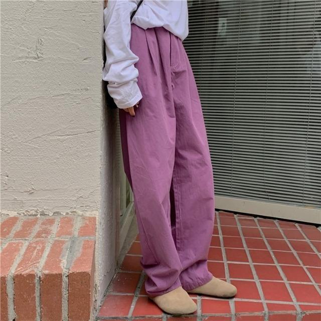 カラーワイドパンツ YH4622