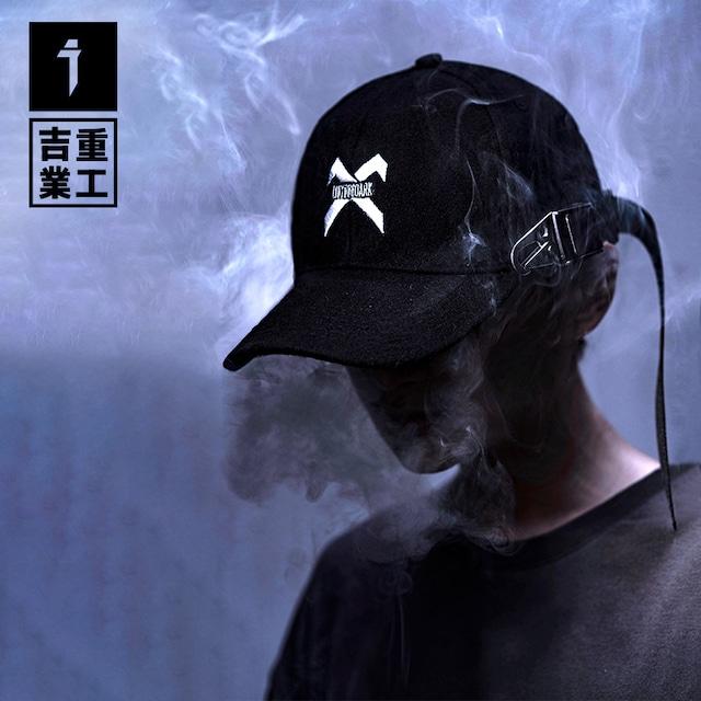 【吉業重工シリーズ】★帽子★ 男女兼用 メンズ カップル かっこいい 合わせやすい ラシャ ブラック 黒い