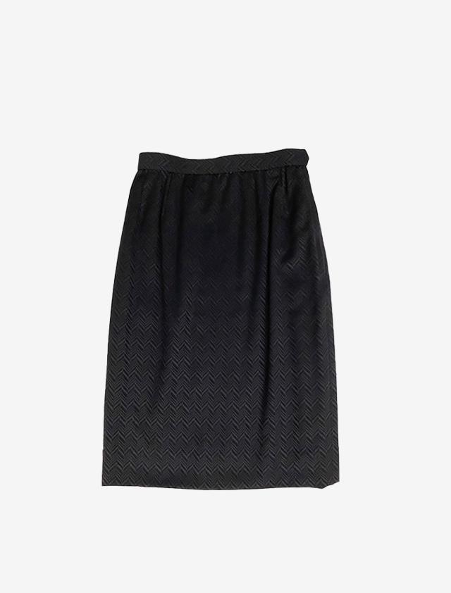 AGNONA アニオナ 波織 膝丈 ブラックスカート