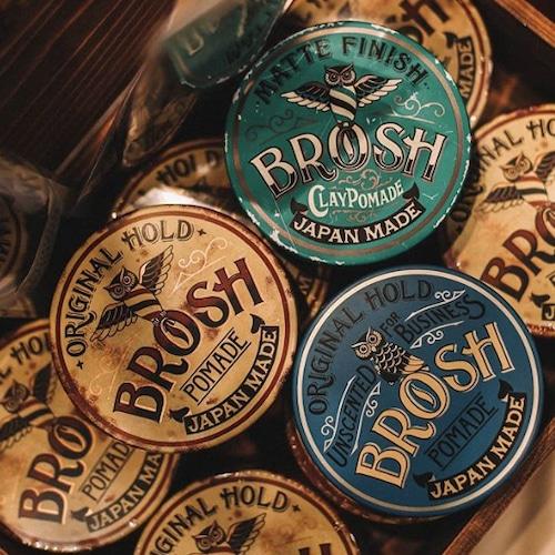 BROSH ブロッシュ ポマード 卸売決済用 オリジナル・無香料・クレイ トリプル