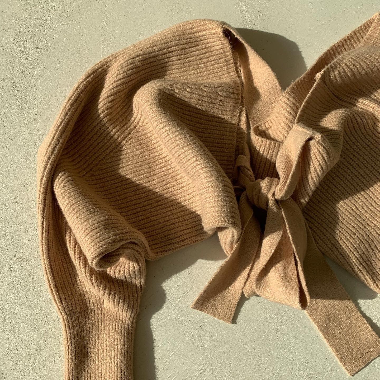 back ribbon short tops