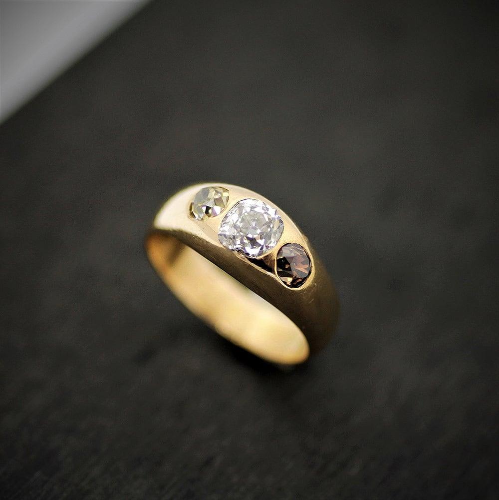Three colors Diamond & Gold Ring  3種類のダイヤモンド&ゴールドリング