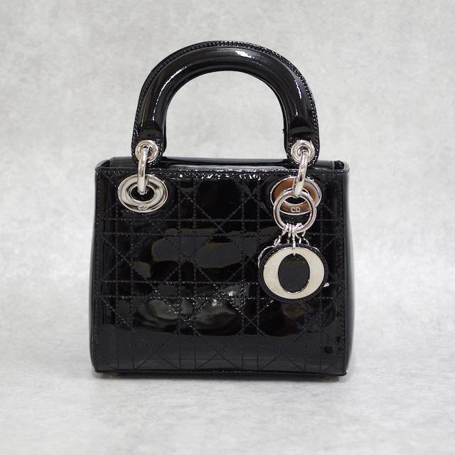 Christian Dior ディオール ミニレディディオール 2WAYバッグ エナメル ブラック