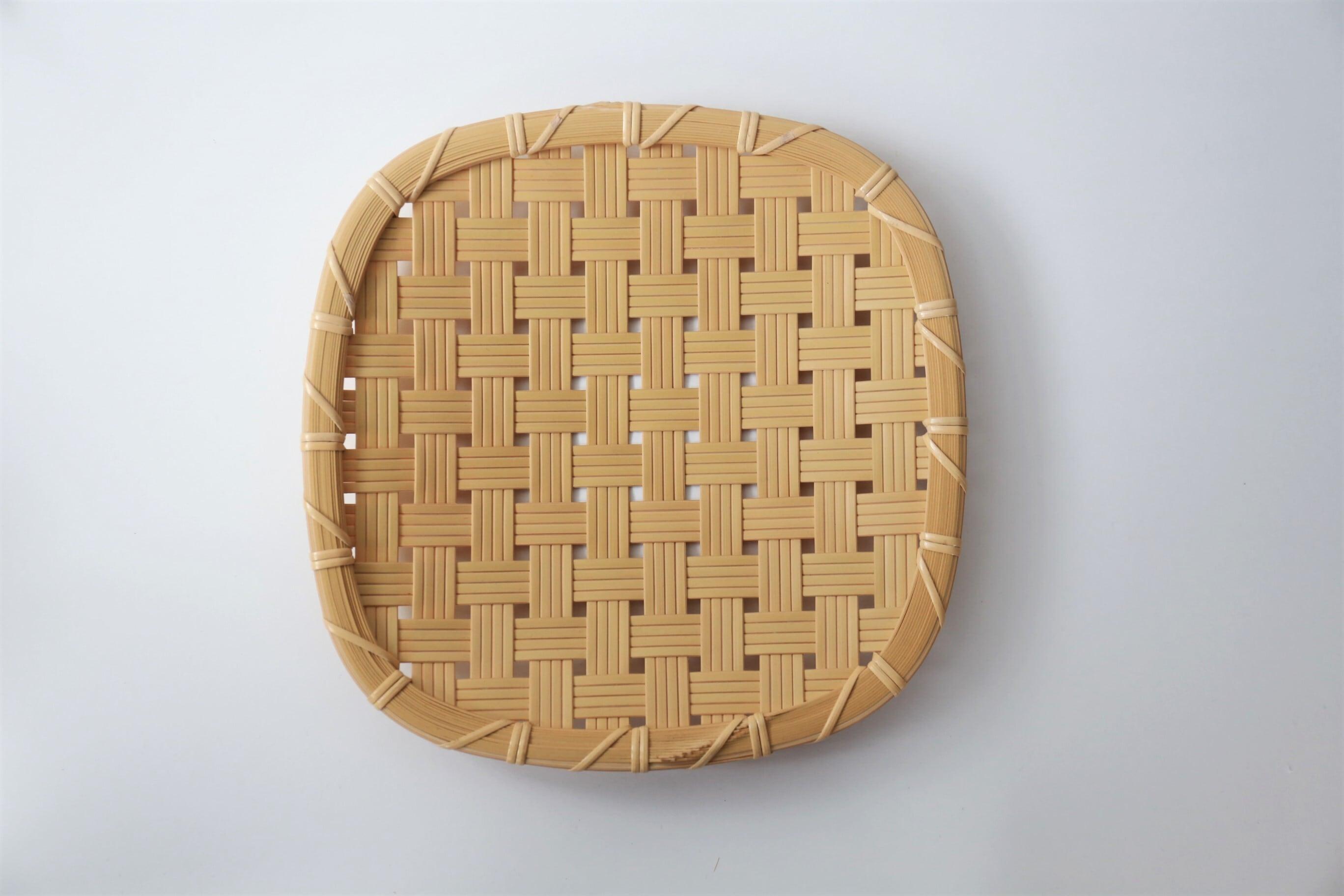けはれ竹工房 竹製盛皿 四つ目