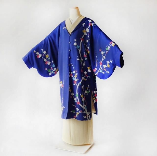 総裏ドレープアウターHITATARE華花火/着物リメイク/訪問着から制作した華やかなデザイン