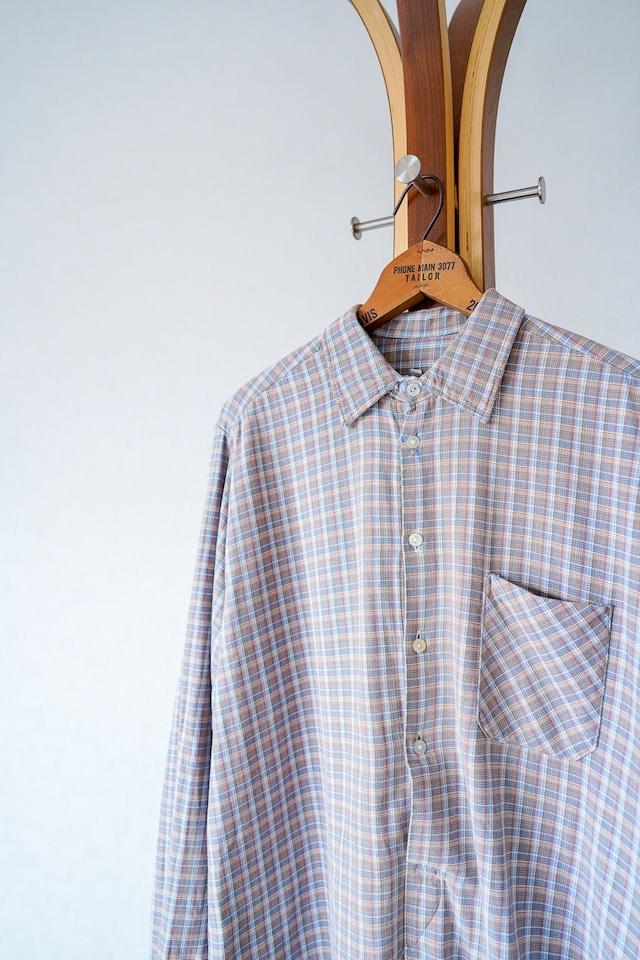 "【1950-60s】""Swiss Made"" Euro Vintage Grandpa Shirts / v692"