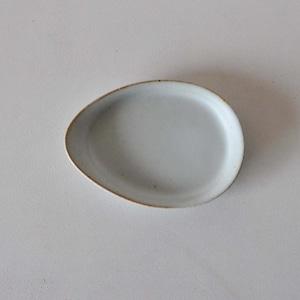 中林範夫(さんちゃ窯) 白4寸たまご皿(019)