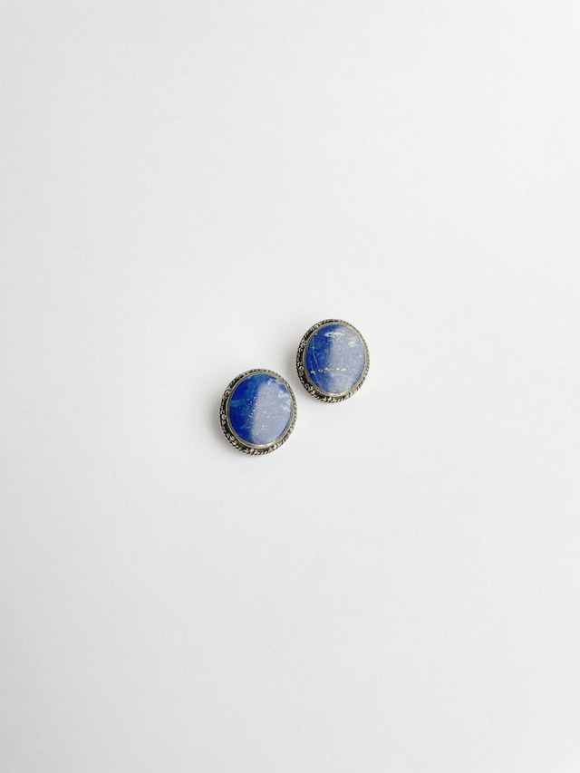 VINTAGE EARTH sky blue earrings