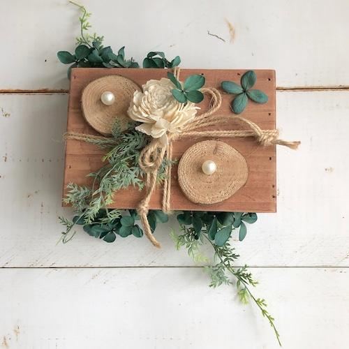森の木箱リングピロー