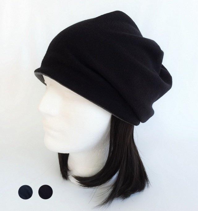 つけ毛付き:wig/白髪入りショート/薄手ニット帽子(裏シルク)6色フリー M~L 男女兼用