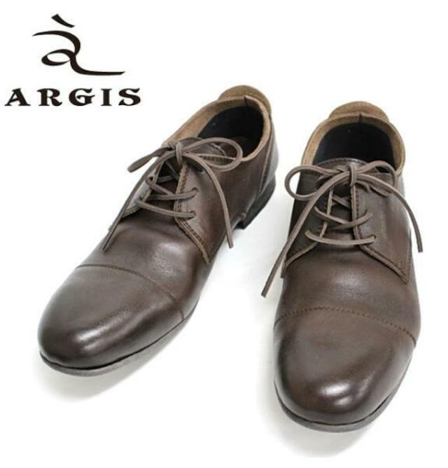 アルジス レザー シューズ カジュアル メンズ 靴 革靴 ARGIS ダークブラウン