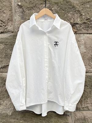 ドロップCロゴオーバーシャツ[Color:ホワイト]