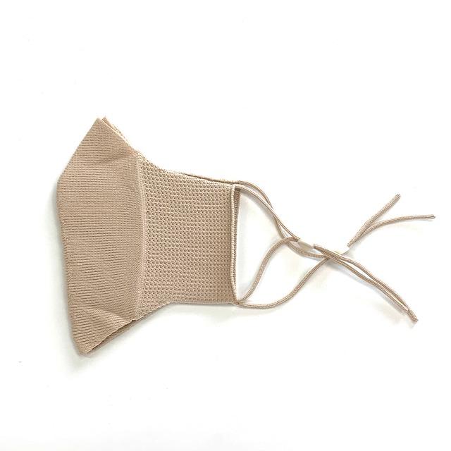 SIBLINGS(シブリングス) 洗って何度でも使えるサイズ調整機能付き無縫製ニットマスク