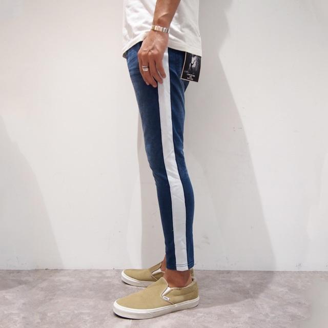 【RE-ARRIVAL】 CUT DENIM SIDE LINE PANTS