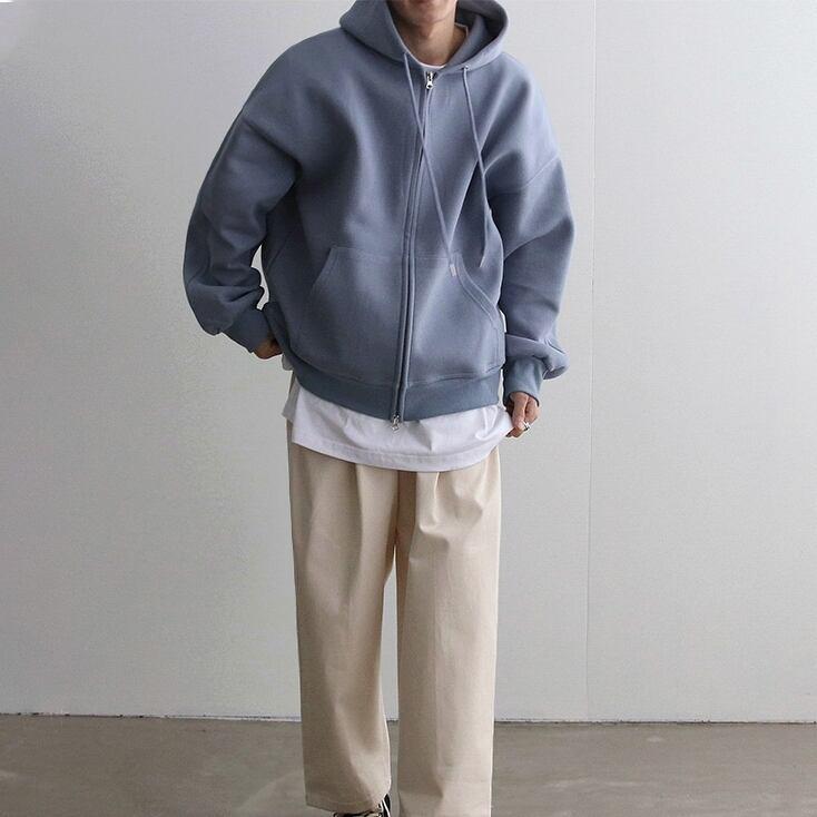 Zipper sweater hoodie   b-015