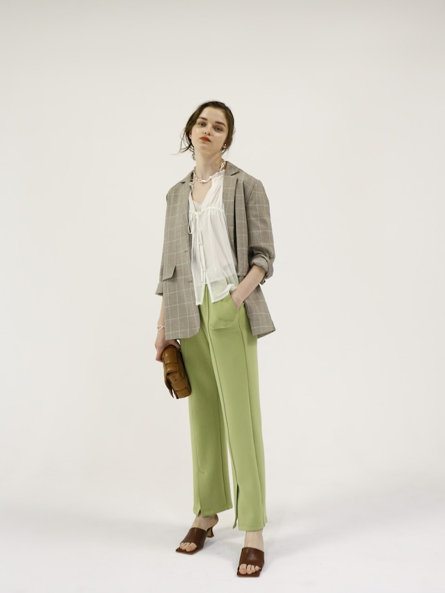 bonding slit pants(green)