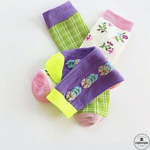 «即納» retro violet socks 3set レトロソックス バイオレット