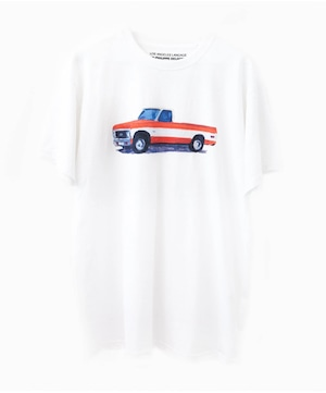 """JEAN-PHILIPPE DELHOMME - LOS ANGELES LANGUAGE - """"CAR 12"""" (RED) T-SHIRT"""