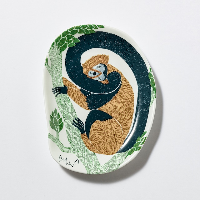 moritaMiW/MiW小皿/「茂林の枝の猿」M-68387-00-2