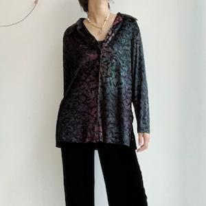 Vintage ベロア×シースルーシャツ