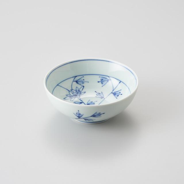 """【青花】""""Classic"""" 4寸ボウル(花唐草)"""