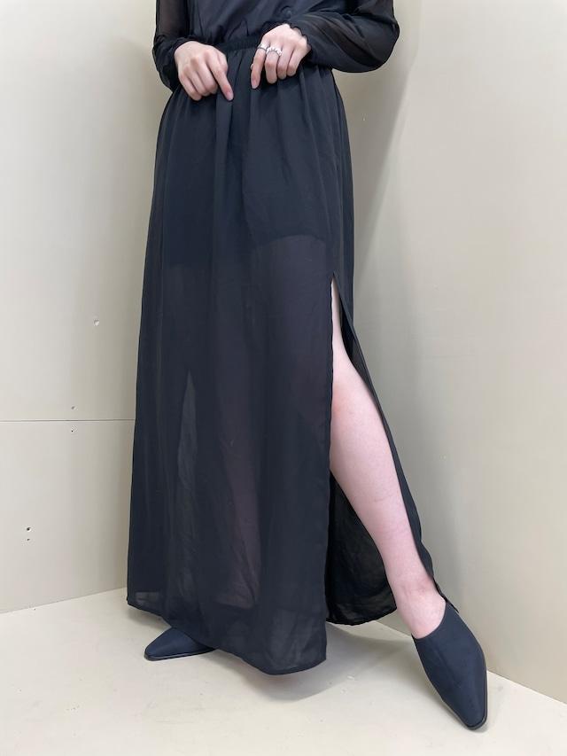 see-through skirt / 7SSSK16-18