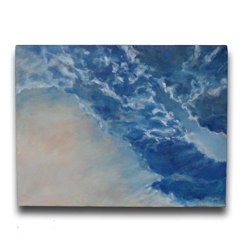 【絵画 油彩 絵画】『印象―秋の空―』F6号 購入後すぐに飾れる