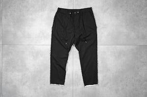 ASKYY / LAYERED ANKLE EASY PANTS / BLK