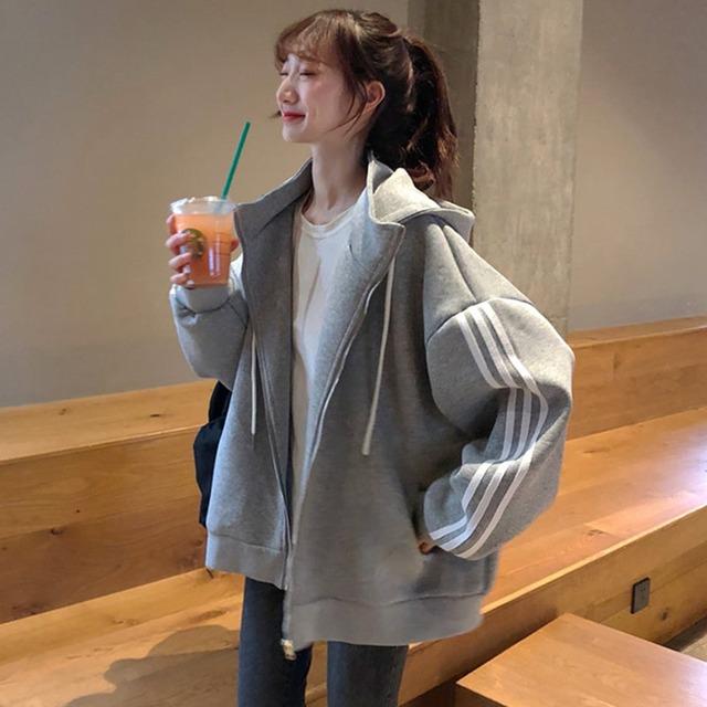【アウター】ノンストレス 韓国系 かわいい ファッション カジュアル シンプル フード付き カーディガン51864931