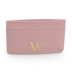 Premium Shrink Leather Card Case (Blush Pink)