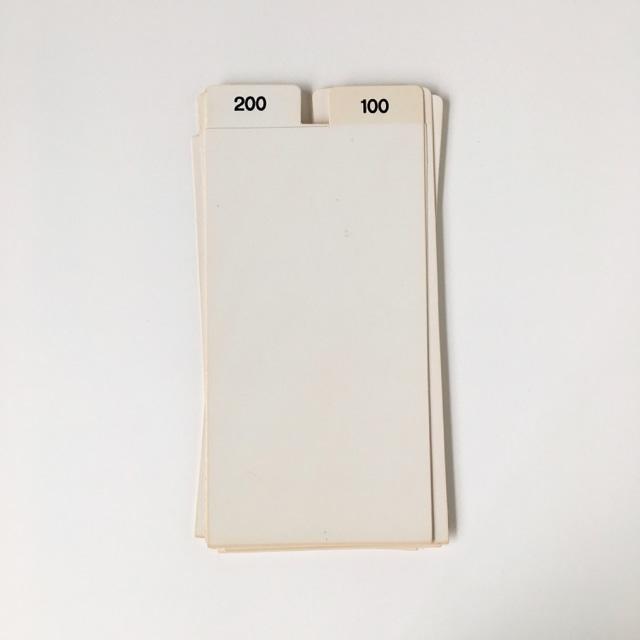 """ヴィンテージのインデックスカード(数字) Vintage Index Card """"Number"""""""