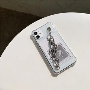 silver chain clip iPhone case