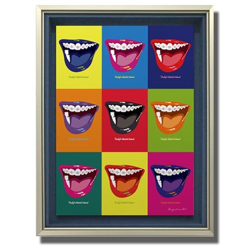 Orthodontic(Color)キャンバスプリント(B2サイズ)・立体額入り