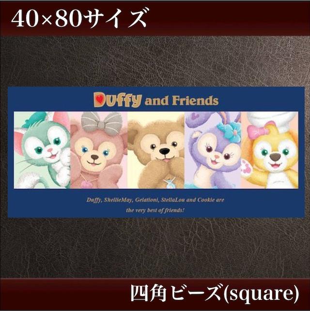 丸めて発送❣️ 四角ビーズ 40×80サイズ【sT-76】✨フルダイヤモンドアート
