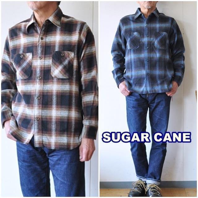 SUGARCANE  シュガーケーン ツイルワークシャツ sc28743 チェックネルシャツ 長袖シャツ アメカジ
