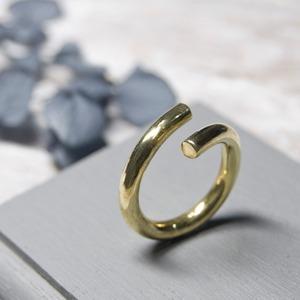 ブラスラウンドプレーンリング フリーサイズ 3.0mm幅 鏡面 3号~27号 WKS ROUND PLANE RING FREESIZE 3.0 bs mirror BRASS 真鍮 指輪 FA-237