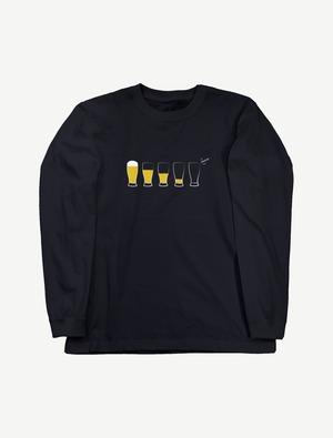 【モア・ビア】ロングスリーブTシャツ(ネイビー)