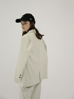 single breasted jacket(ivory)