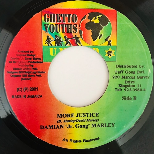 """Damian """"Jr. Gong"""" Marley - More Justice【7-10924】"""