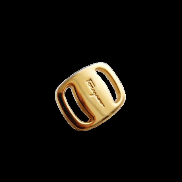 【VINTAGE Salvatore Ferragamo BUTTON】フェラガモマーク ゴールド ボタン SF-21001