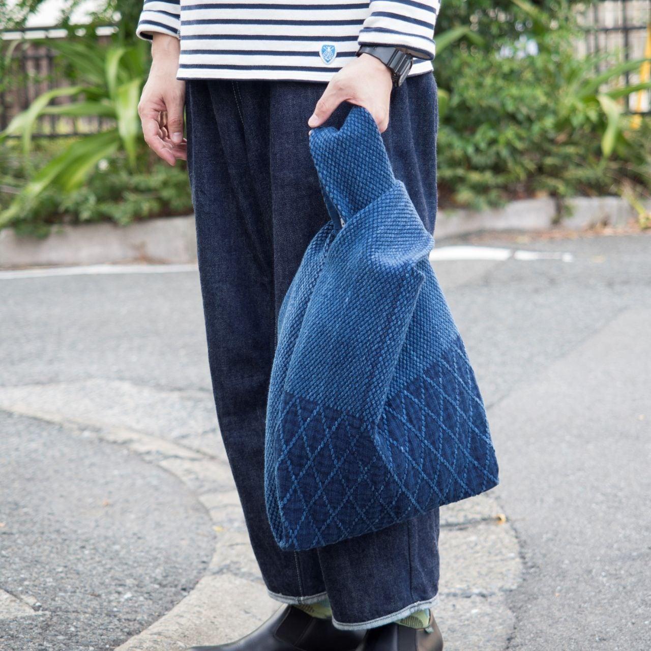 うしじま縫製   武州正藍染 エコバッグ 二重刺子