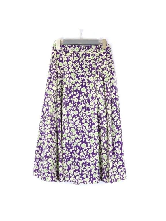 小花プリントスカート