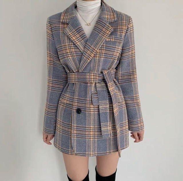 color check coat 2color