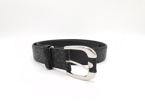 紳士ベルト(40mm幅)黒/黒 トンボ柄
