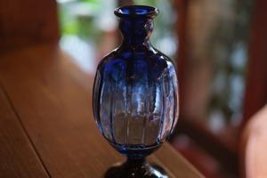 ◆三宅吹硝子工房◆三宅義一◆◆◆『瑠璃色の花瓶』◆◆◆