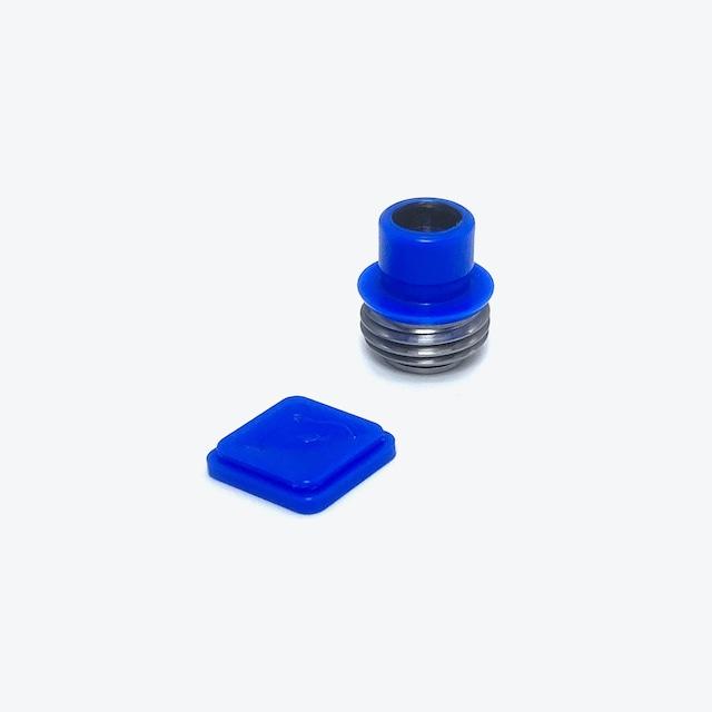 FF2 TEAM FLIPPER TIP & BUTTON SET (Dolphin Blue)