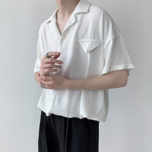 デイリーオープンカラーシャツ BL8595