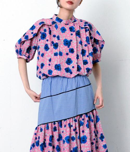 FLUMOR  Imported flower print blouse